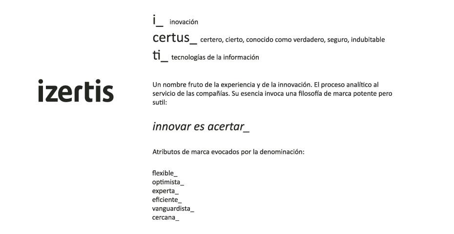 Naming Izertis